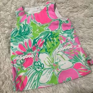 Lilly Pulitzer baby Button back shirt dress